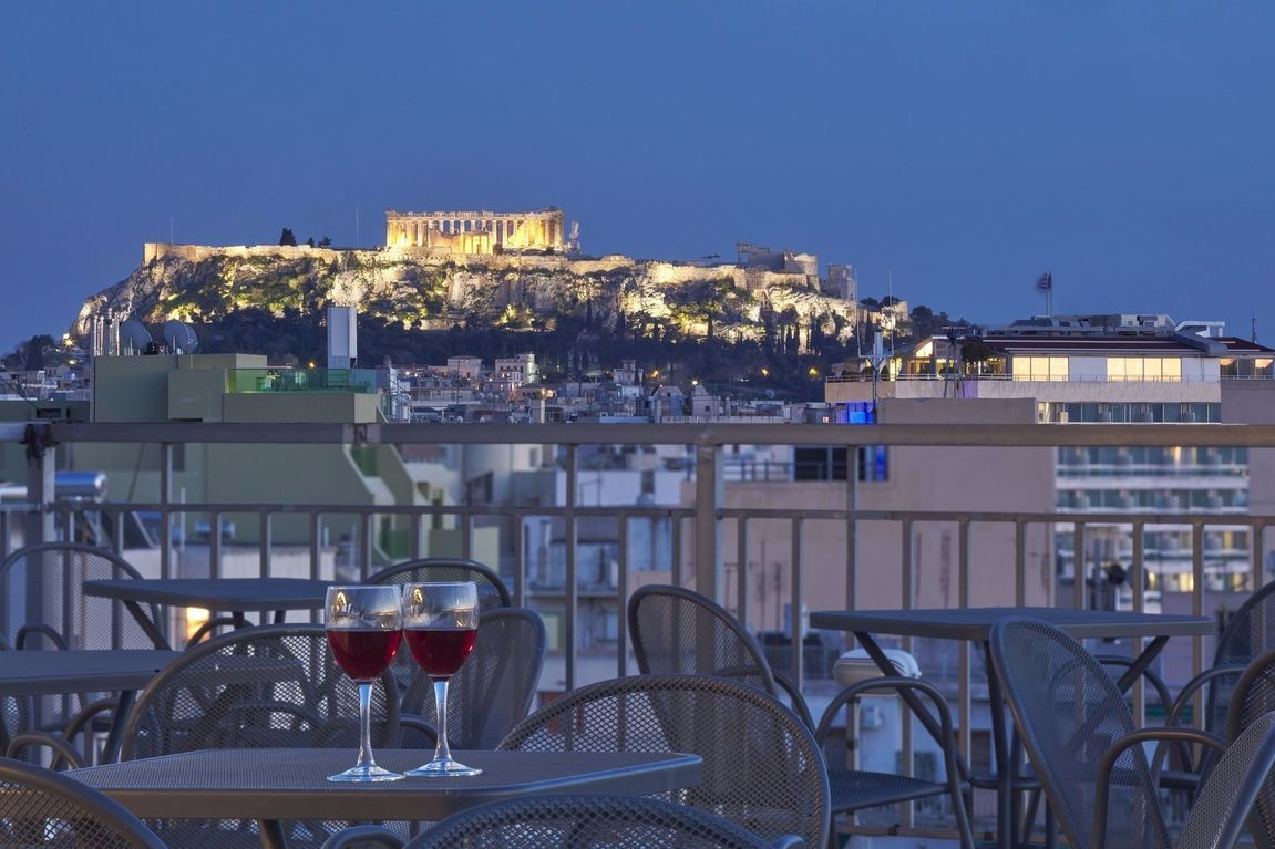 central athens hotel with rooftop pool